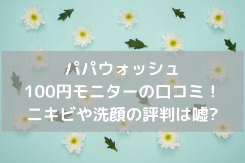 パパウォッシュ口コミ100円モニター