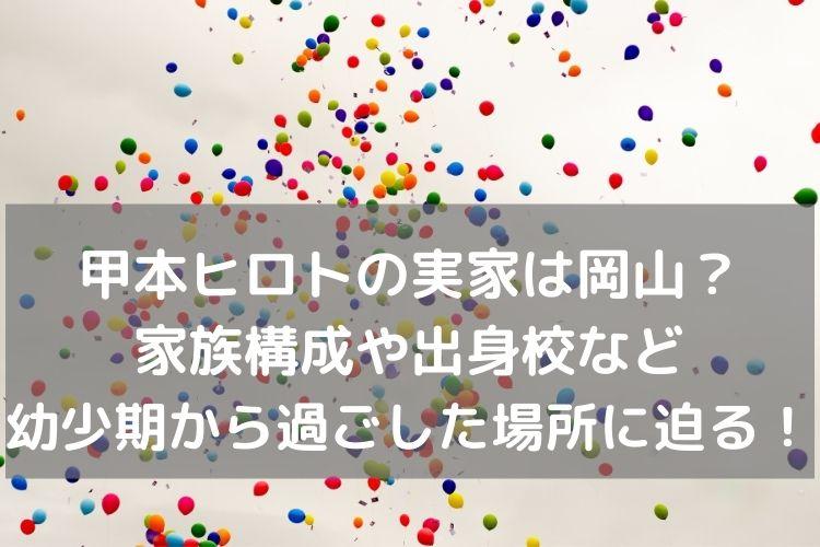 甲本ヒロト実家岡山